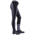 "Thomas Cook Equestrian womens ""Splice Check"" jodhpur - ""Grey/Purple"""
